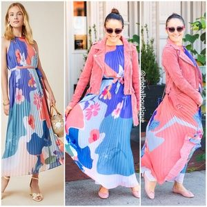 HTF NWT ANTHROPOLOGIE Encanta Abstract Maxi Dress